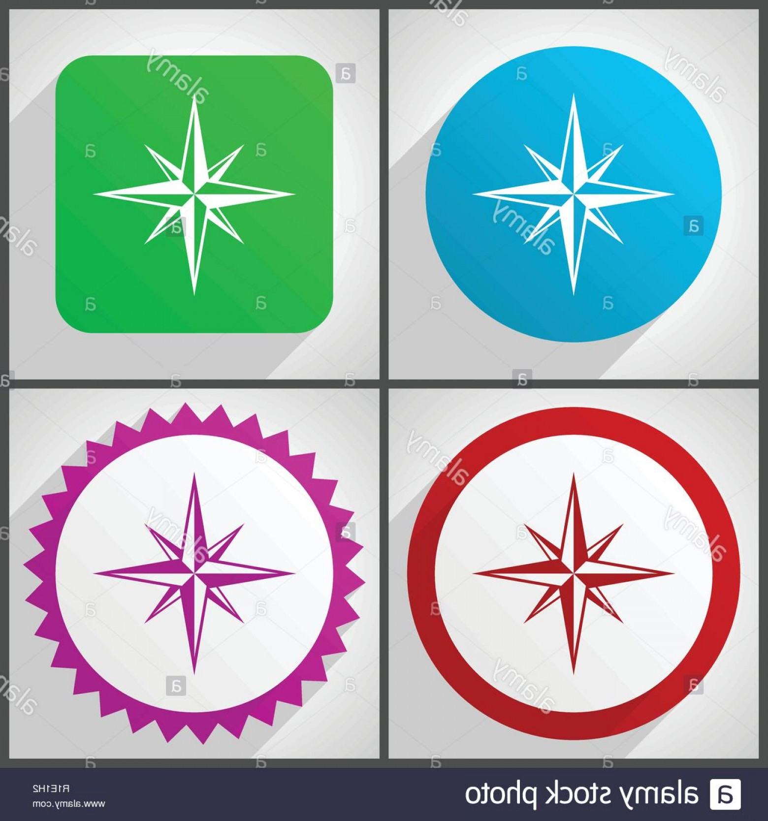 Mandala Vector Simple Compass: Compass With World Map In The Background