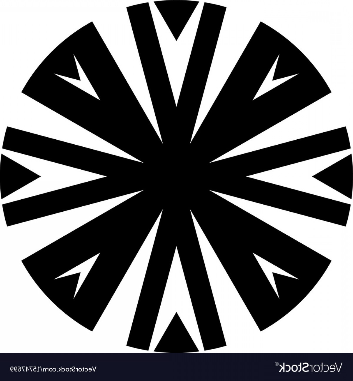 Tribal Vector Horseshoe Image: Complex Tribal Circle Design Icon Vector