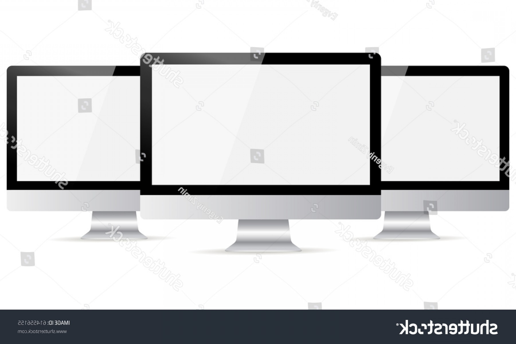 Vector Monitors Mac: Computer Monitor Apple Imac Mockup Blank