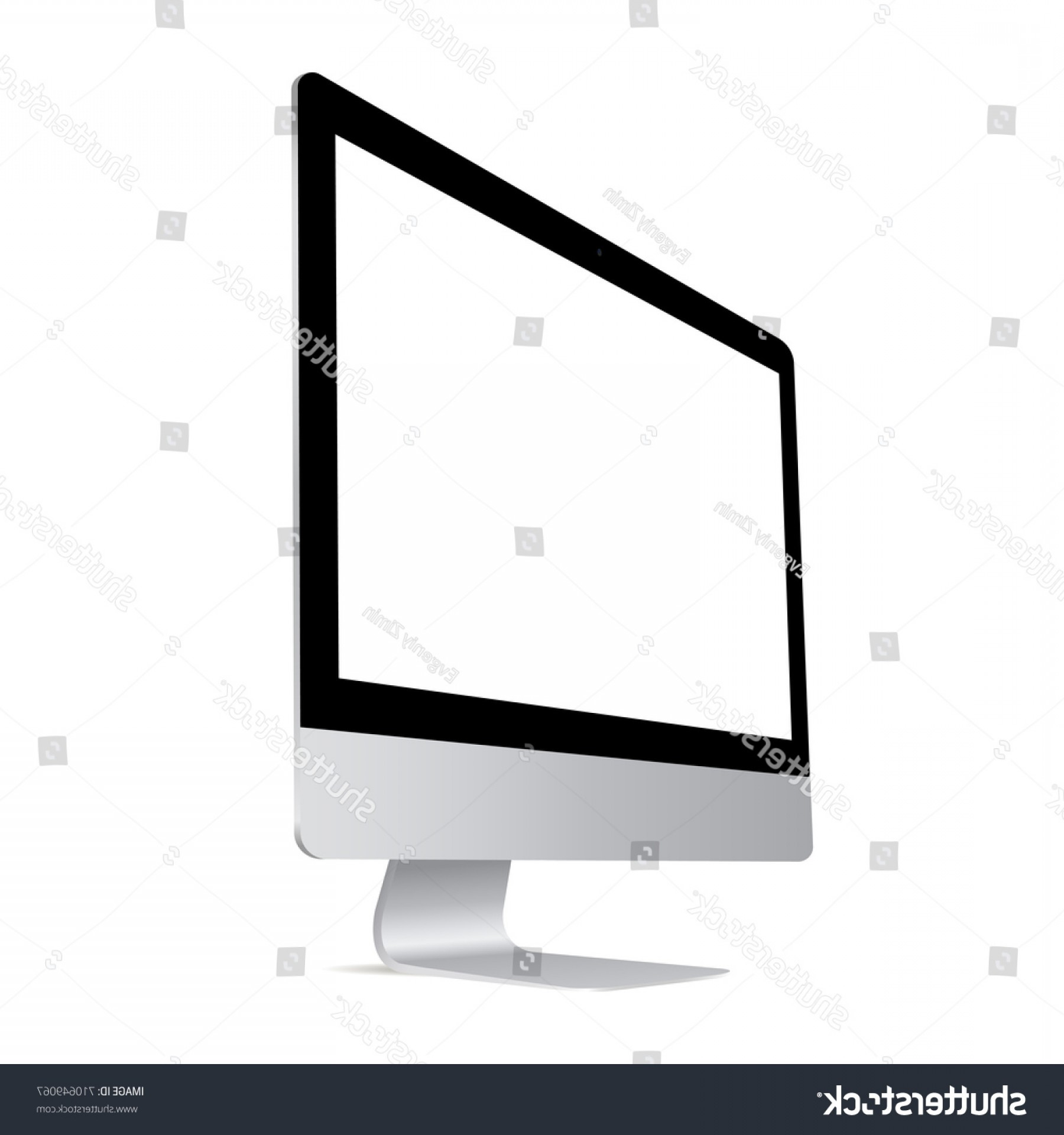 Vector Monitors Mac: Computer Monitor Imac Screen Mockup
