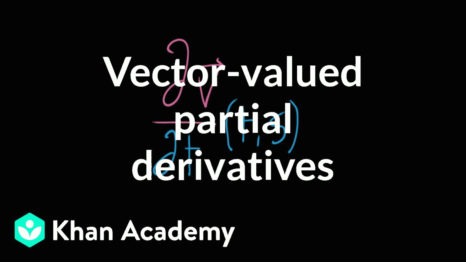 Vectors And Vector Valued Functions: Computing The Partial Derivative Of A Vector Valued Function