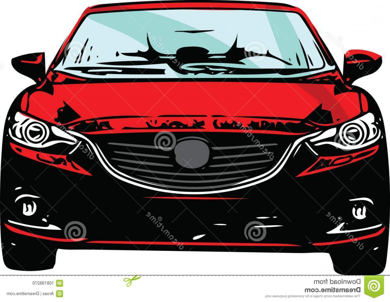 Bumper Barbell Vector: Concept Red Sportscar Vehicle Silhouette Vector Illustration Red Sportscar Vehicle Silhouette Image