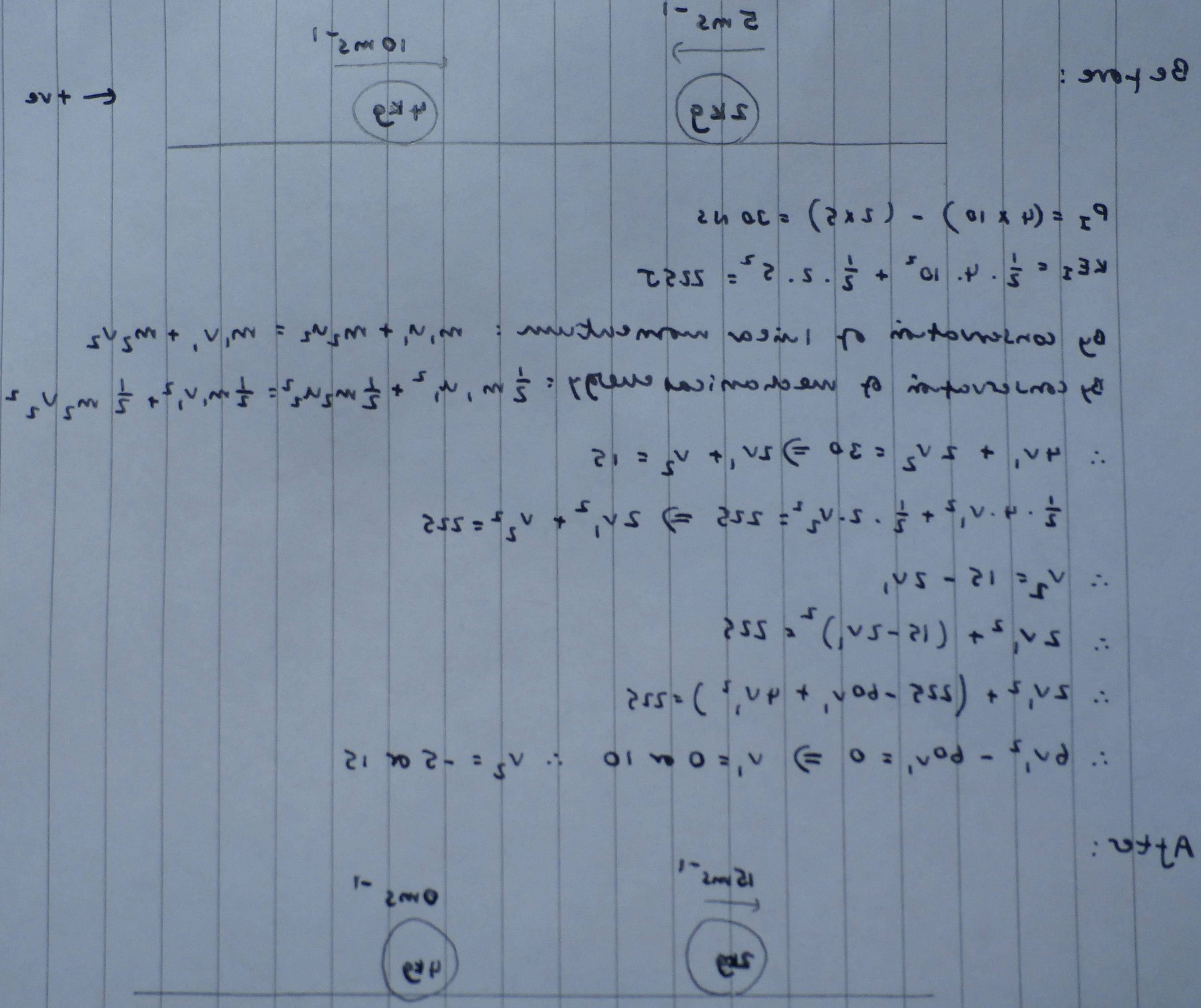 Angular Momentum Vectors Drawing: Conservation Of Momentum And Mechanical Energy In Different Reference Frames