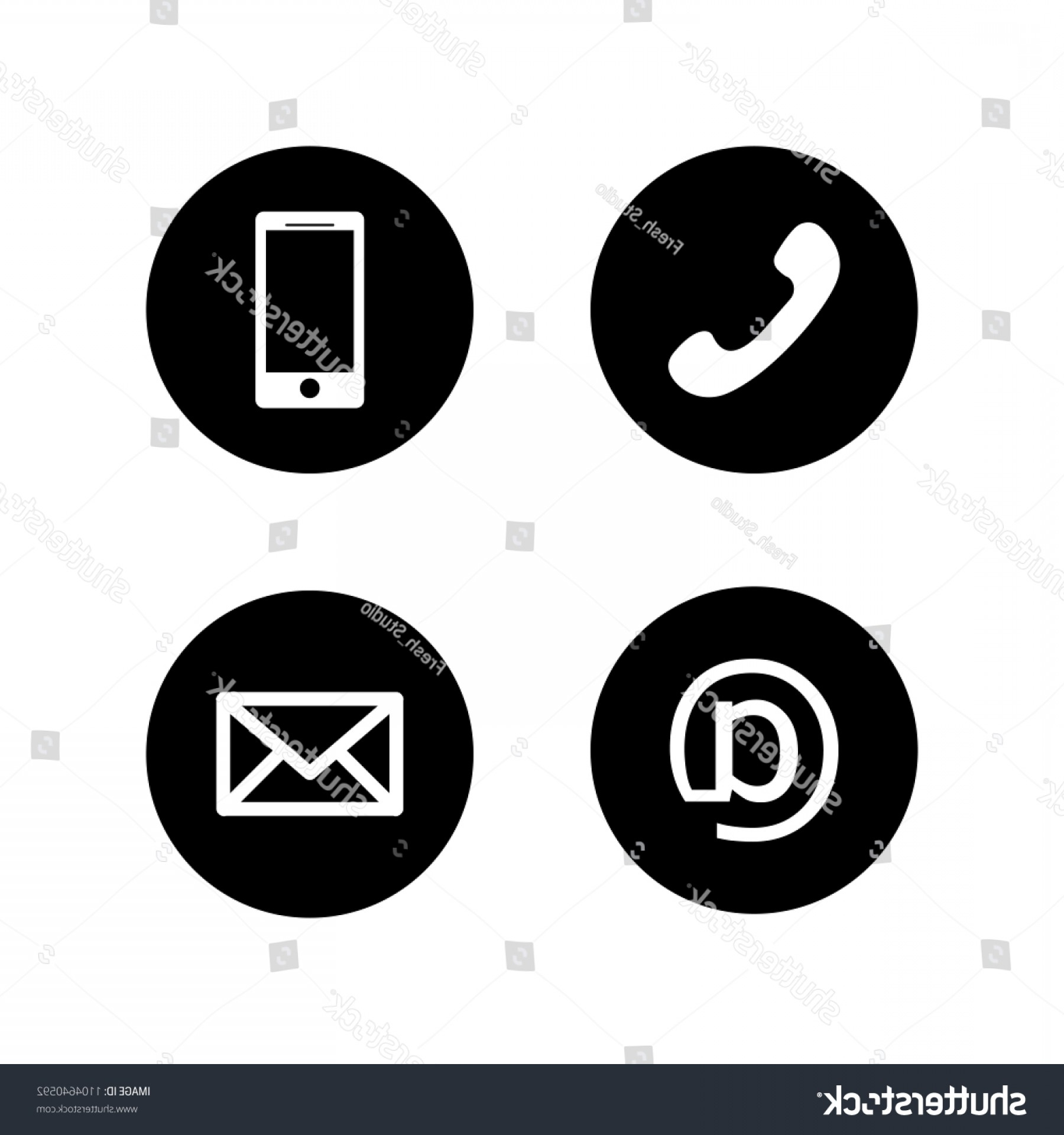 Contact Button Icons Vector Free: Contact Buttons Set Email Envelope Phone