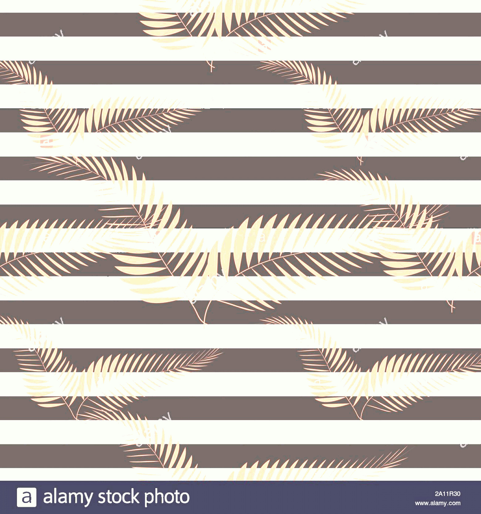 Contemporary Wallpaper Art Vector: Contemporary Geometric Fashion Print With Palm Leaves And Stripes Abstract Wallpaper Pattern Image