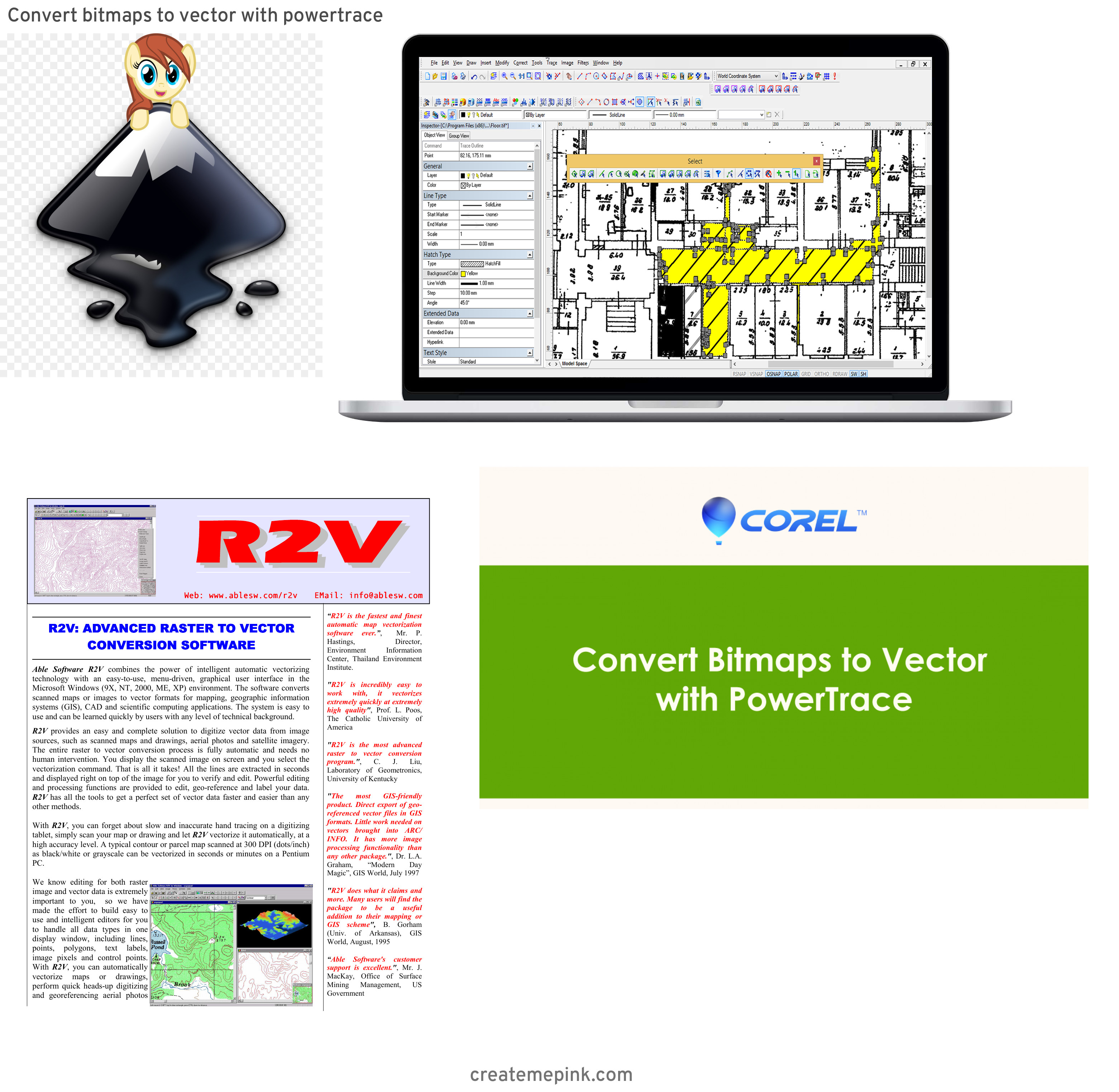 Tracing Bitmap To Vector Software: Convert Bitmaps To Vector With Powertrace