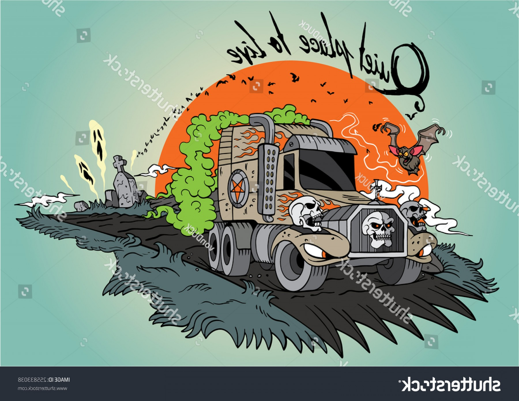 Cool Evil Vectors: Cool Evil Truck Hand Drawn Vector