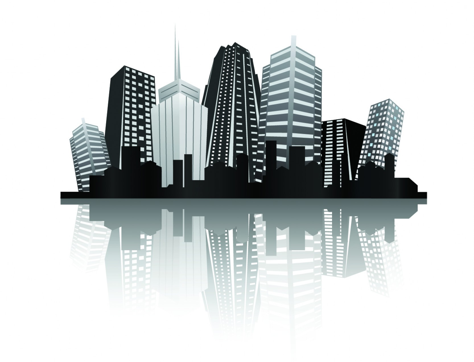 City Vector: Cool Vector Silhouette Of The City