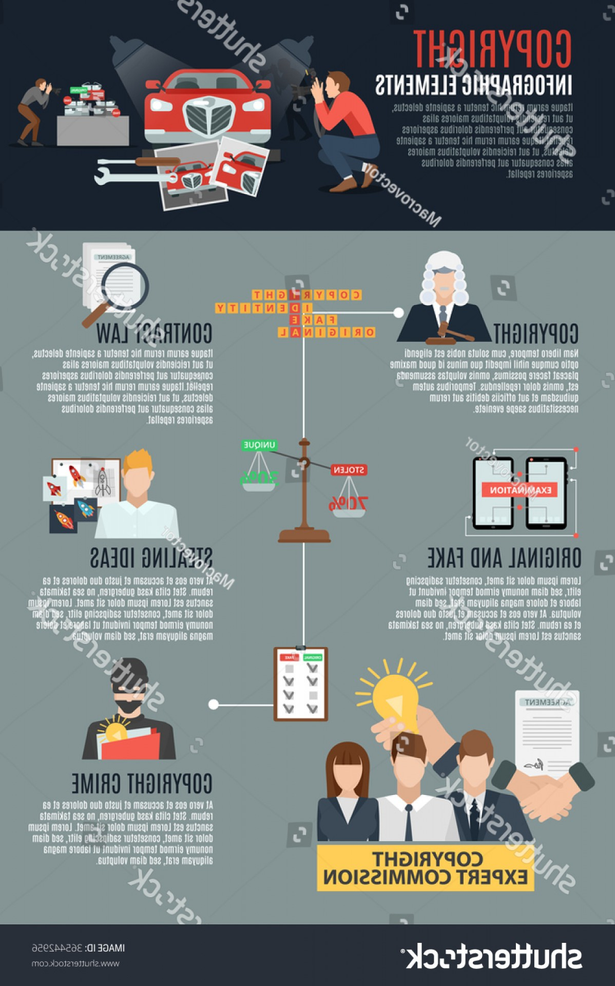 Vector Marketing Commission: Copyright Compliance Infographic Layout Expert Commission