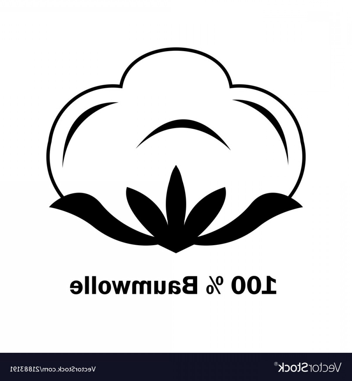 Cotton Vector Graphic: Cotton Boll Or Flower Line Art Icon For Apps And Vector