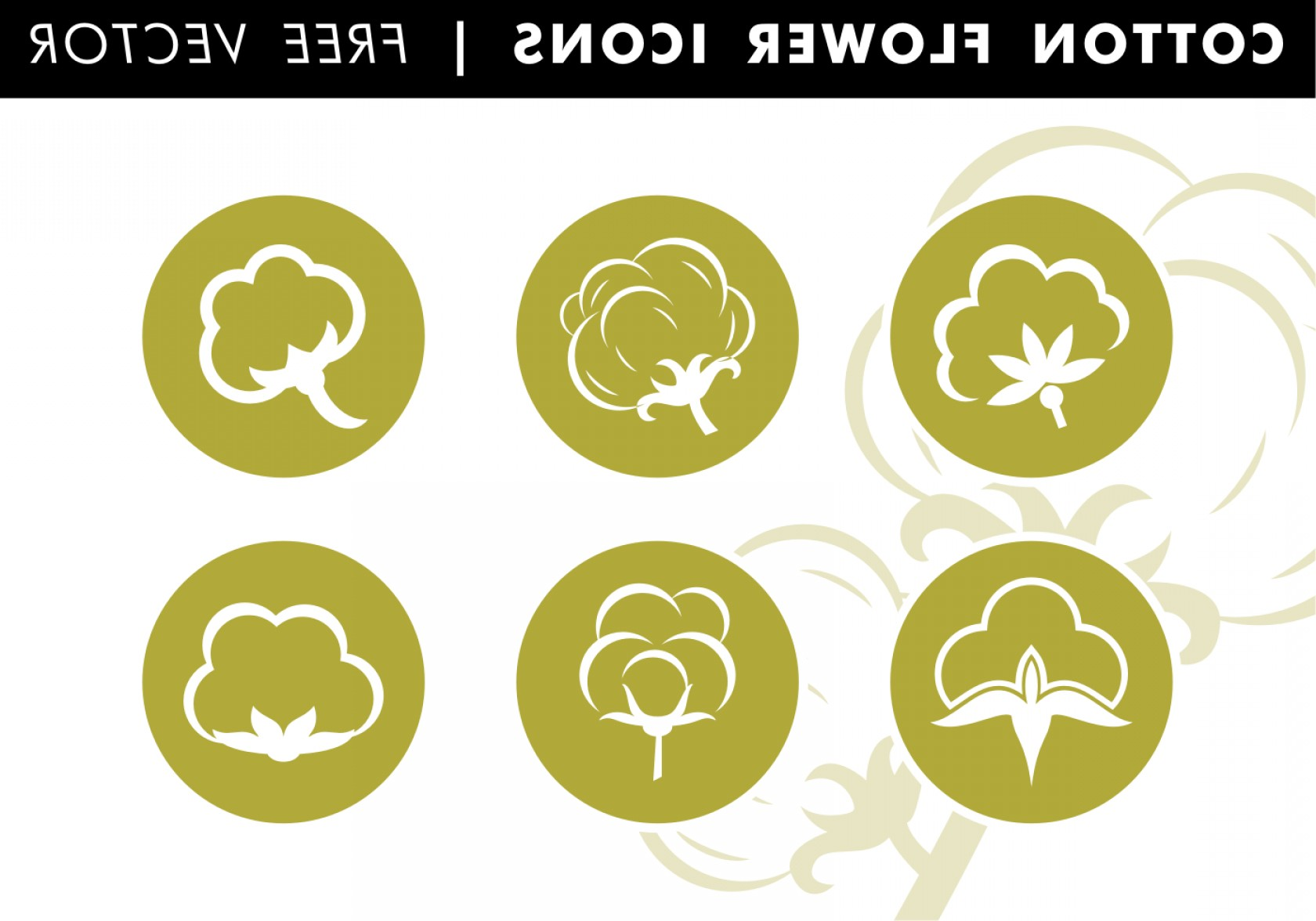 Cotton Vector Graphic: Cotton Flat Icons Free Vector