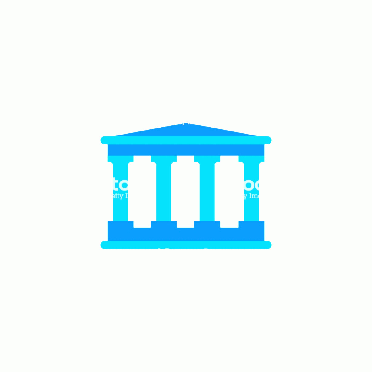 Court Building Vector: Court Or Bank Building Vector Icon Isolated On White Background Gm