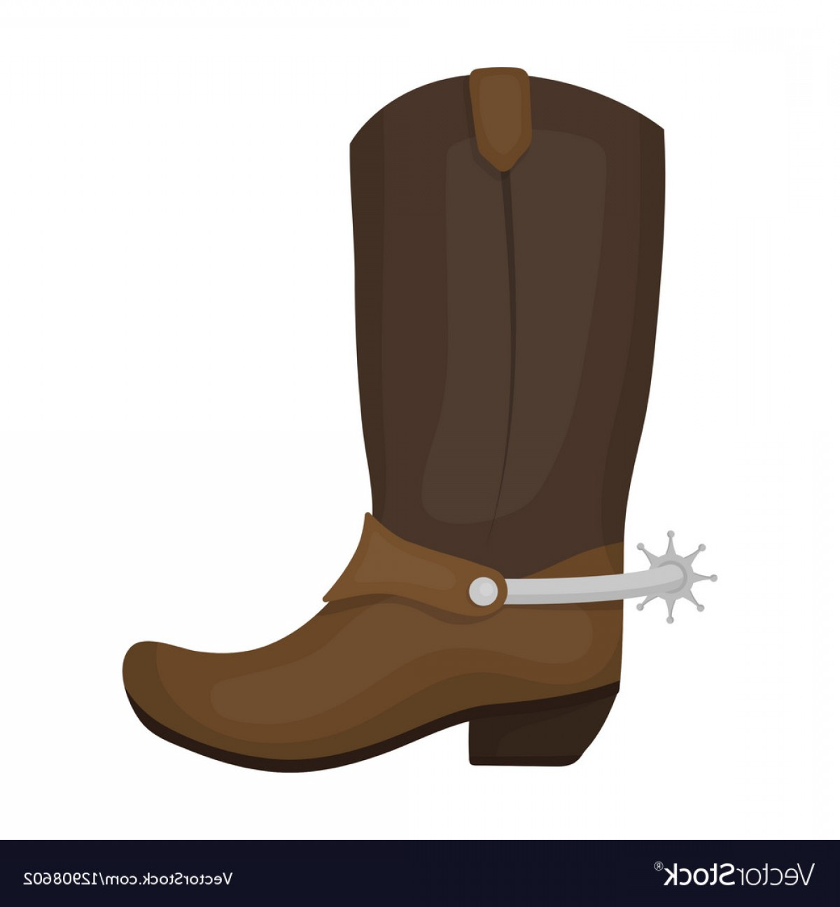 Two Cowgirl Boots Vector: Cowboy Boots Icon In Cartoon Style Isolated On Vector