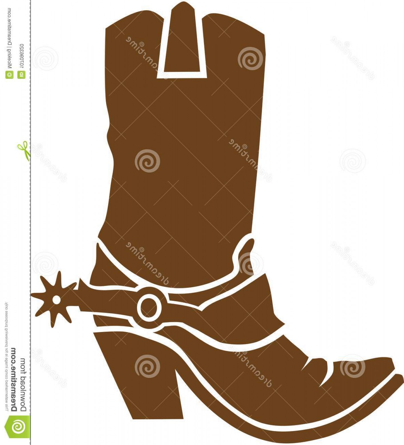 Two Cowgirl Boots Vector: Cowboy Boots Vector Occupation Western Cowboy Boots Vector Image