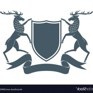 Crest And Coat Of Arms Vector Silhouette: Eagle Coat Of Arms Vector