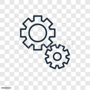 Cogwheel Vector: Cogwheel Vector Icon Isolated On Transparent Background Cogwheel Logo Design F