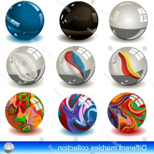 Vector Sphere Marble: Stock Illustration Vector White D Sphere With