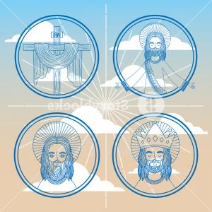 La SkyVector: Collection Face Jesus Faith Religion On Sky Vector Illustration Hfgkdbofjedhypd