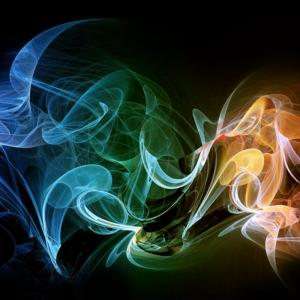 Color Smoke Vector: Abstract Background With Blue Line Swirls Color Smoke Effect Gm