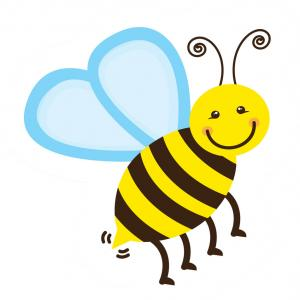 Vector Bee Icon: Colorful Bee Icon Stock Vector