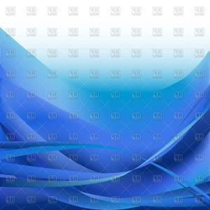 Blue With White Background Vector: Abstract Blue Wave Isolated On White Background Vector