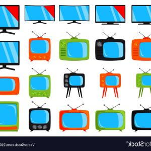 Vector Elements For TV: Activity Icons Set Apple Ring Tv