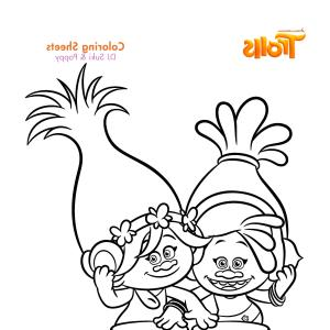 Trolls Poppy And Branch Vector Art: Coloring Pages Trolls Fresh Branch Amp Poppy From Page Inspirationa Best And Of Colo Troll