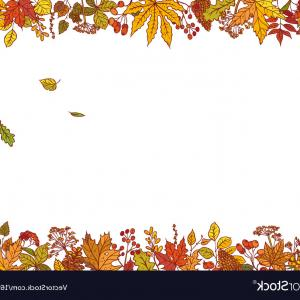 Autumn Vector Graphics: Colourful Outline Background Sketch Autumn Vector