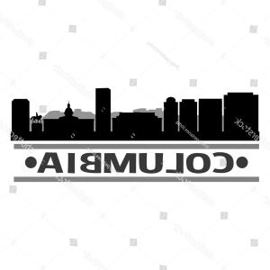 Columbia Logo Vector: Columbia Skyline Silhouette Design City Vector
