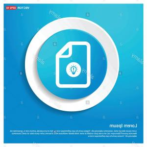 Contact Button Icons Vector Free: Computer Files Icons Abstract Blue Web Sticker Button Free Vector Icon Image