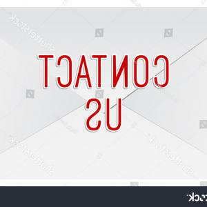 Us Envelope Vector: Contact Us Mail Envelope Vector Isolated