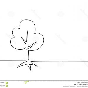Continuous Tree Branch Vector Image: Autumn Background Maple Leaves Continuous Line Drawing Vector Illustration Autumn Background Maple Leaves Image