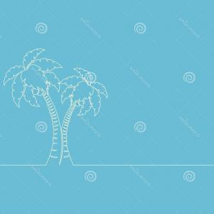 Continuous Tree Branch Vector Image: Continuous One Line Drawing Palm Tree Single Line Drawing Line Art Vector Illustration Continuous One Line Drawing Palm Tree Line Image