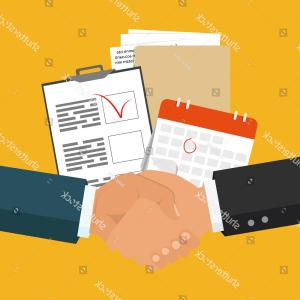 Business Service Icon Vector: Accounting Service And Trade Business Icon Set Vector