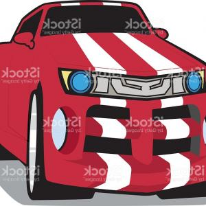 Race Car Grill Vector: Cool Vector Car Front View Grill Gm