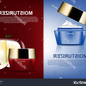 D Night Stanf Vector Graphic: Cosmetic Ads Template Day Night Cream