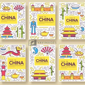 Country Brochure Vector: Country Malaysia Travel Vector Brochure Cards