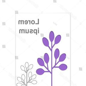 Purple Tree Vector: Cover Design Purple Tree Vector Illustration