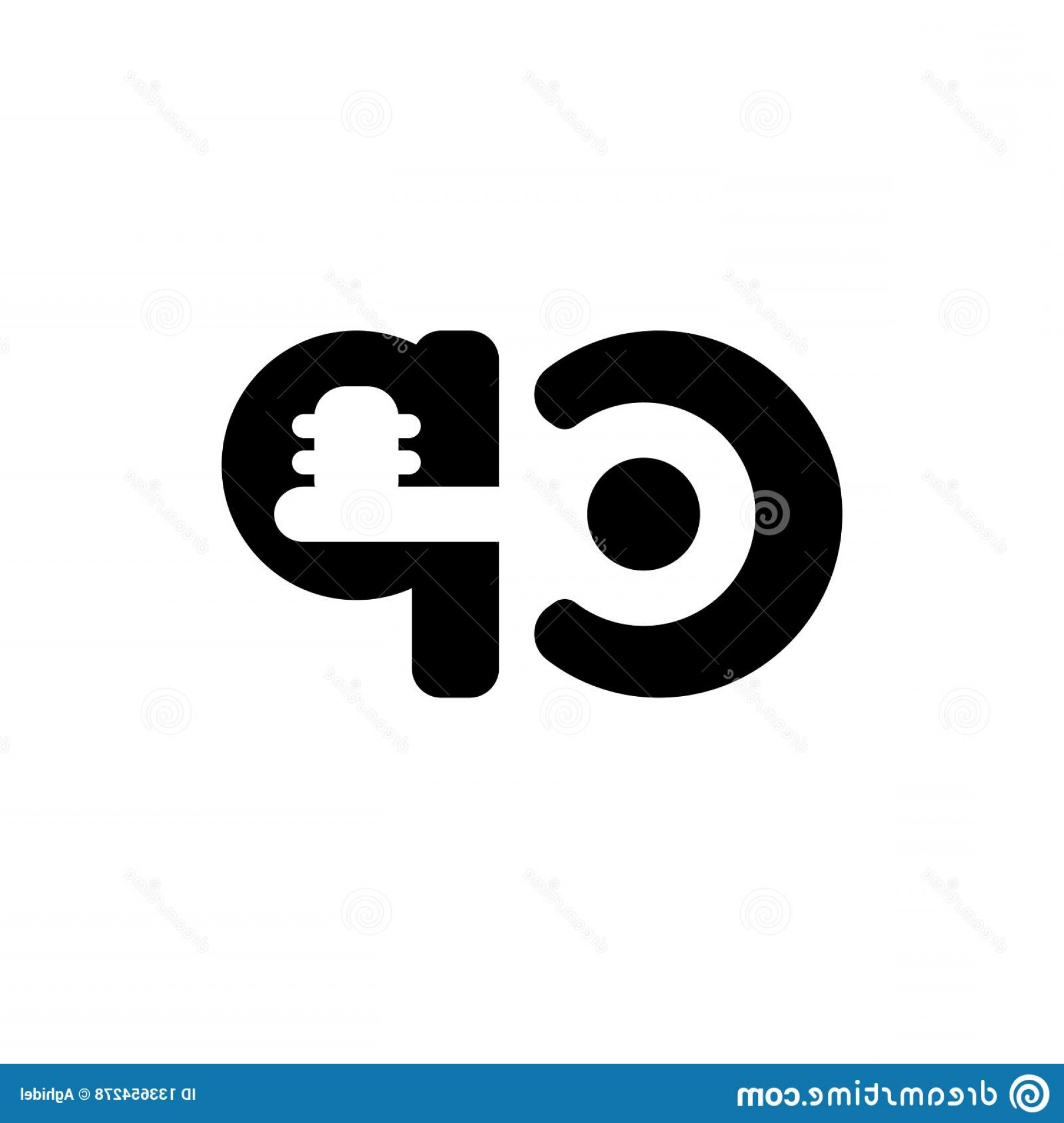 Log C Vector: Cp Key Logo Vector Business Symbol Brand Concept Text Log Logotype Letters C P Joint Shape Real Estate Image