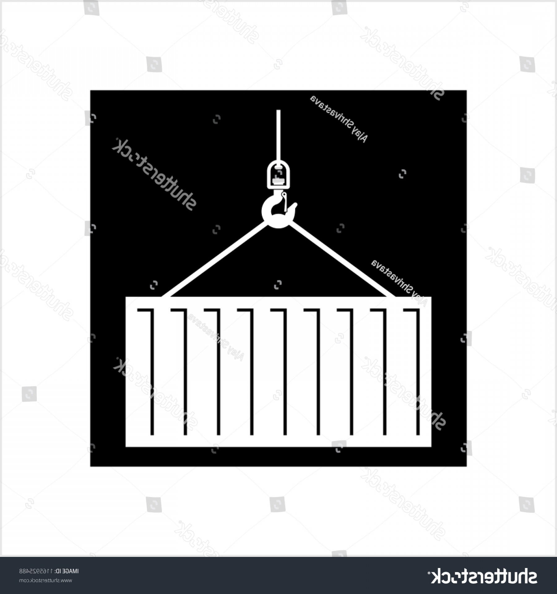 Tow Hook Vector Art: Crane Hook Icon Tow Holding Container