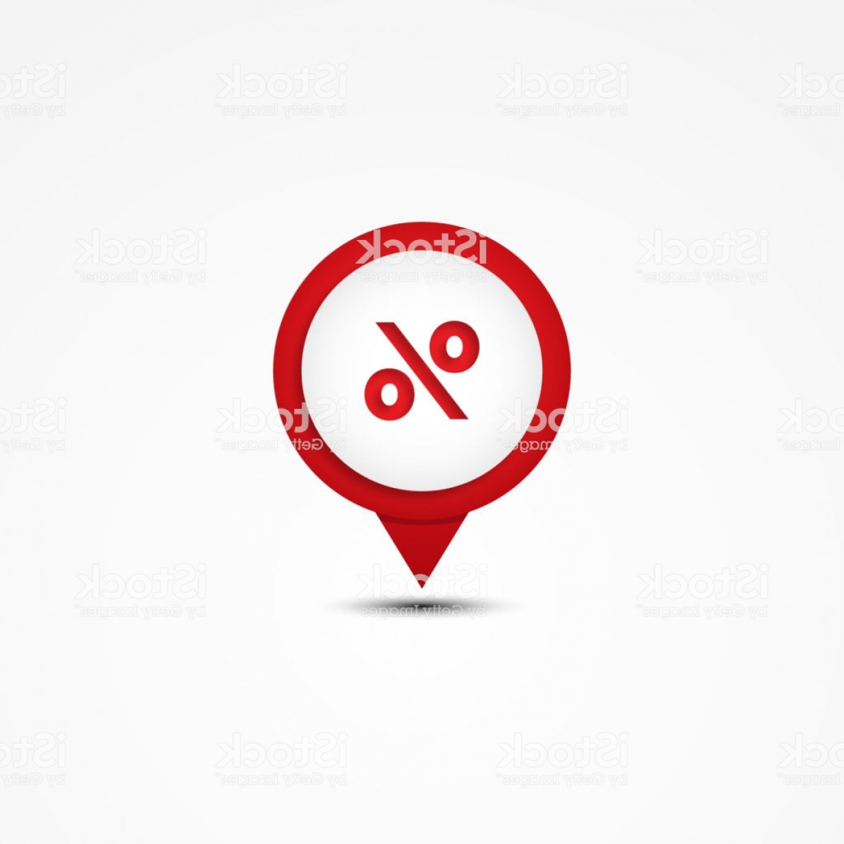 Unique Pointer Vector: Creative Combination Percent Mathematics Symbol And Map Pointer Gm