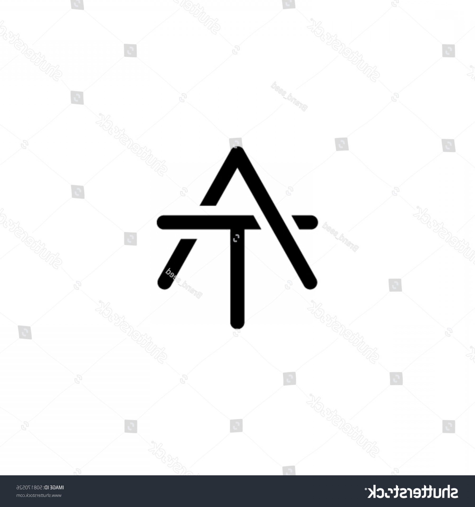 AT-AT Vector: Creative Letter T Logo Design Vector