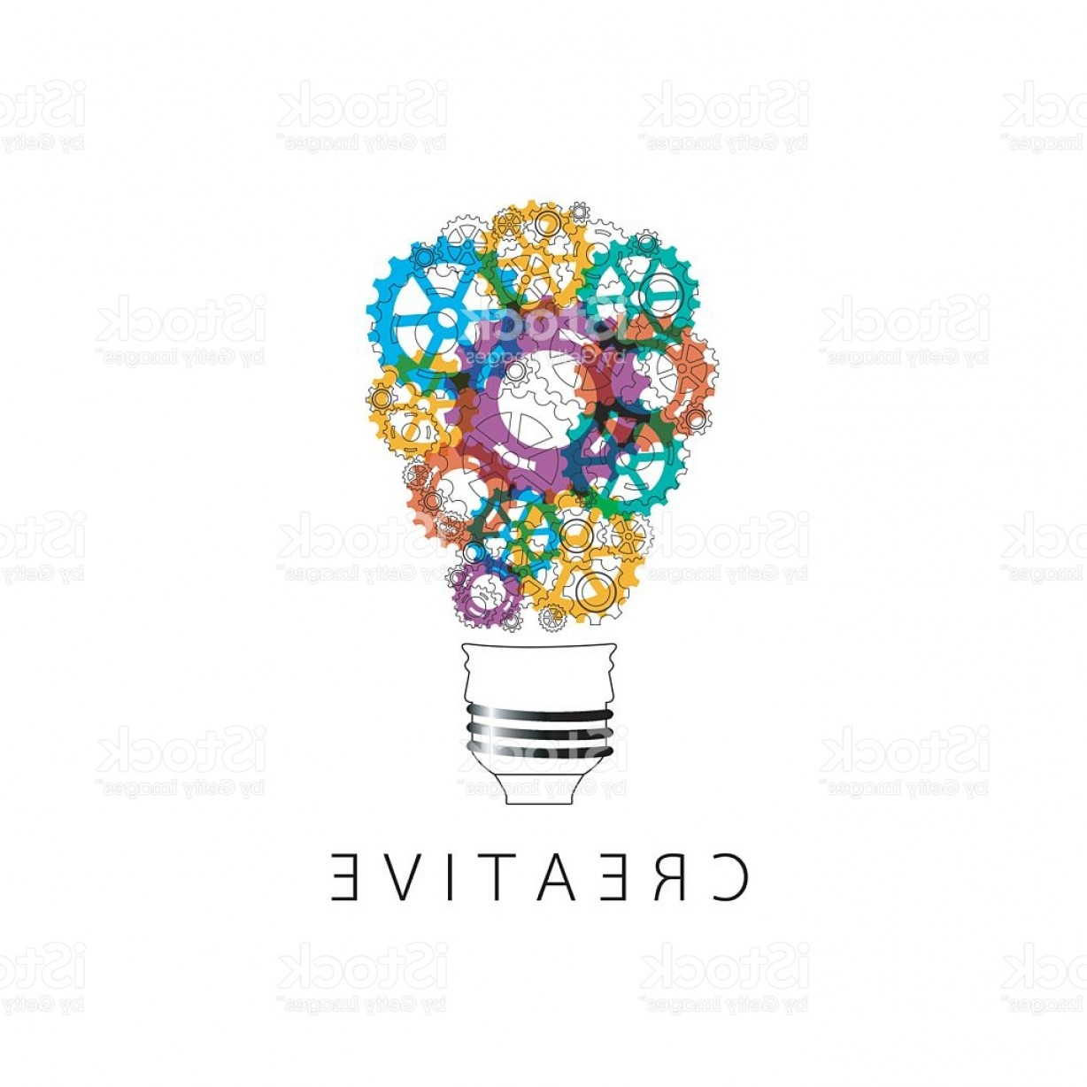 Creative Light Bulb Vector: Creative Light Bulb Idea Concept Background Design Gm