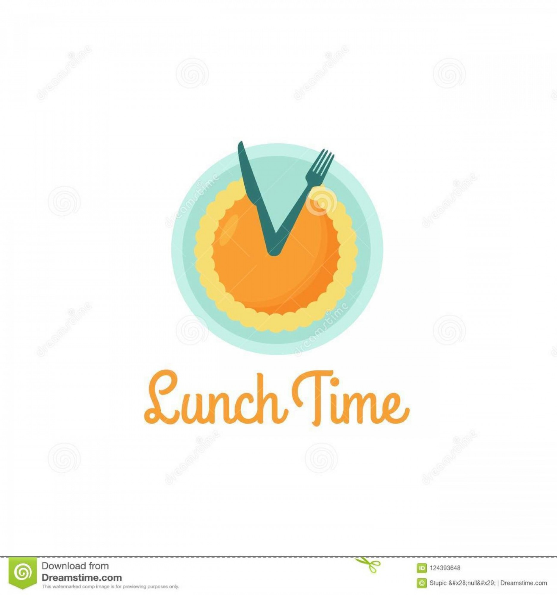 Logo Design Vector: Creative Lunch Time Logo Design Vector Art Logo Creative Clever Lunch Time Logo Design Various Used Purposed Just Image