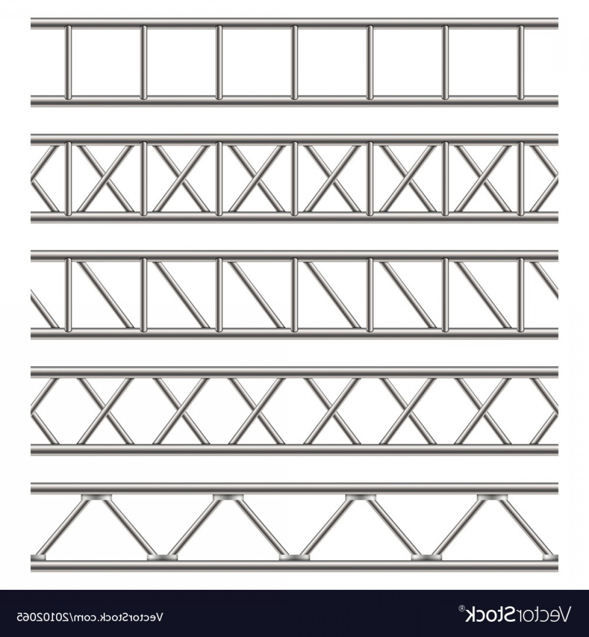Aluminum Truss Design Vector: Creative Of Steel Truss Girder Vector