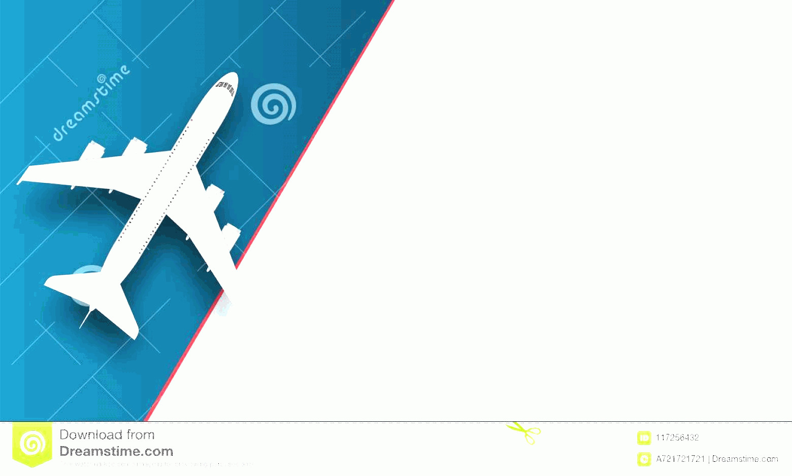 Aviation Vector Designs: Creative Vector Illustration Plane Isolated Colorful Background Top View Airplane Travel Art Design Summer Vacation Copy Image