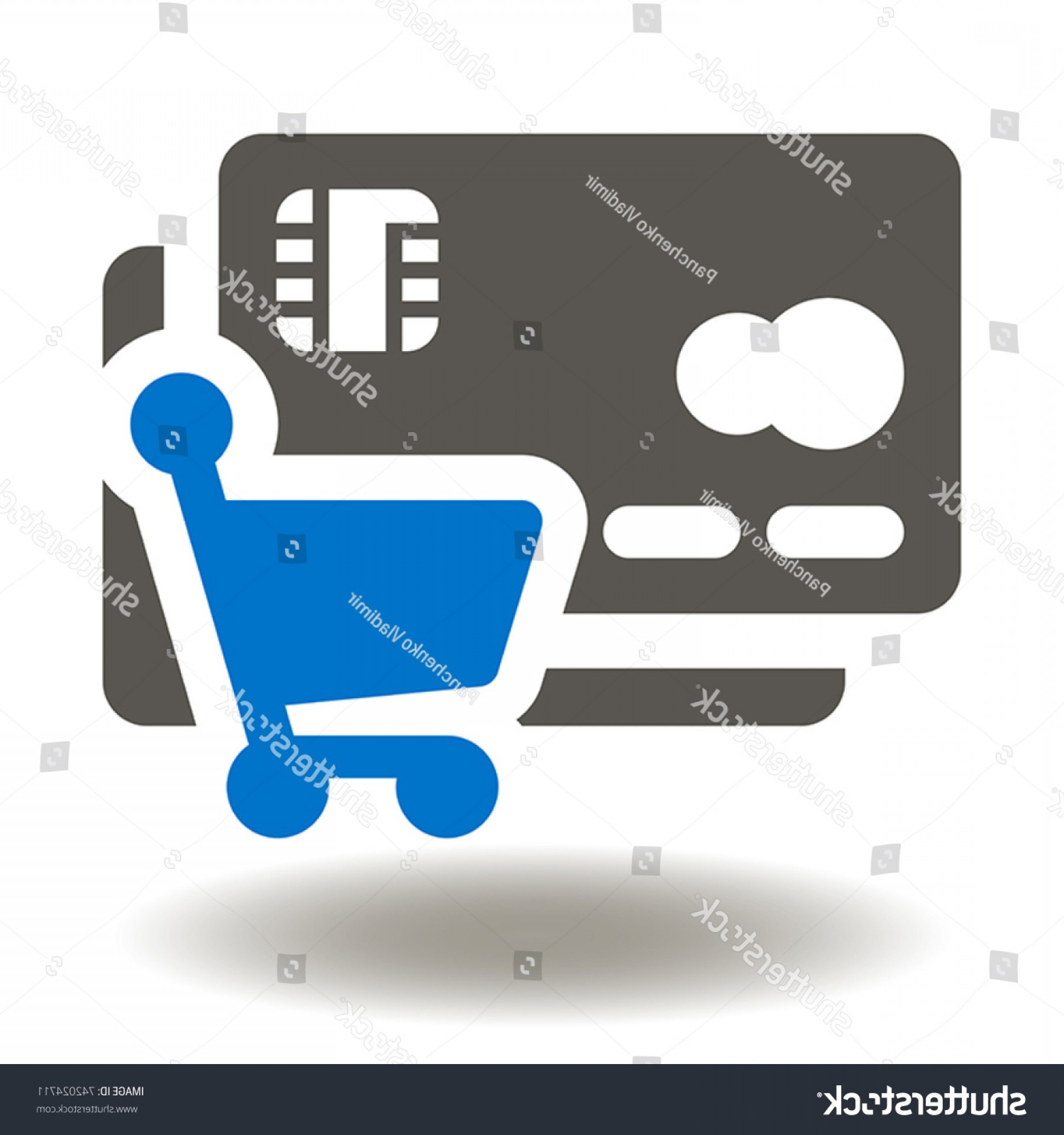 Credit Card Logos Vector: Credit Card Shopping Cart Icon Vector