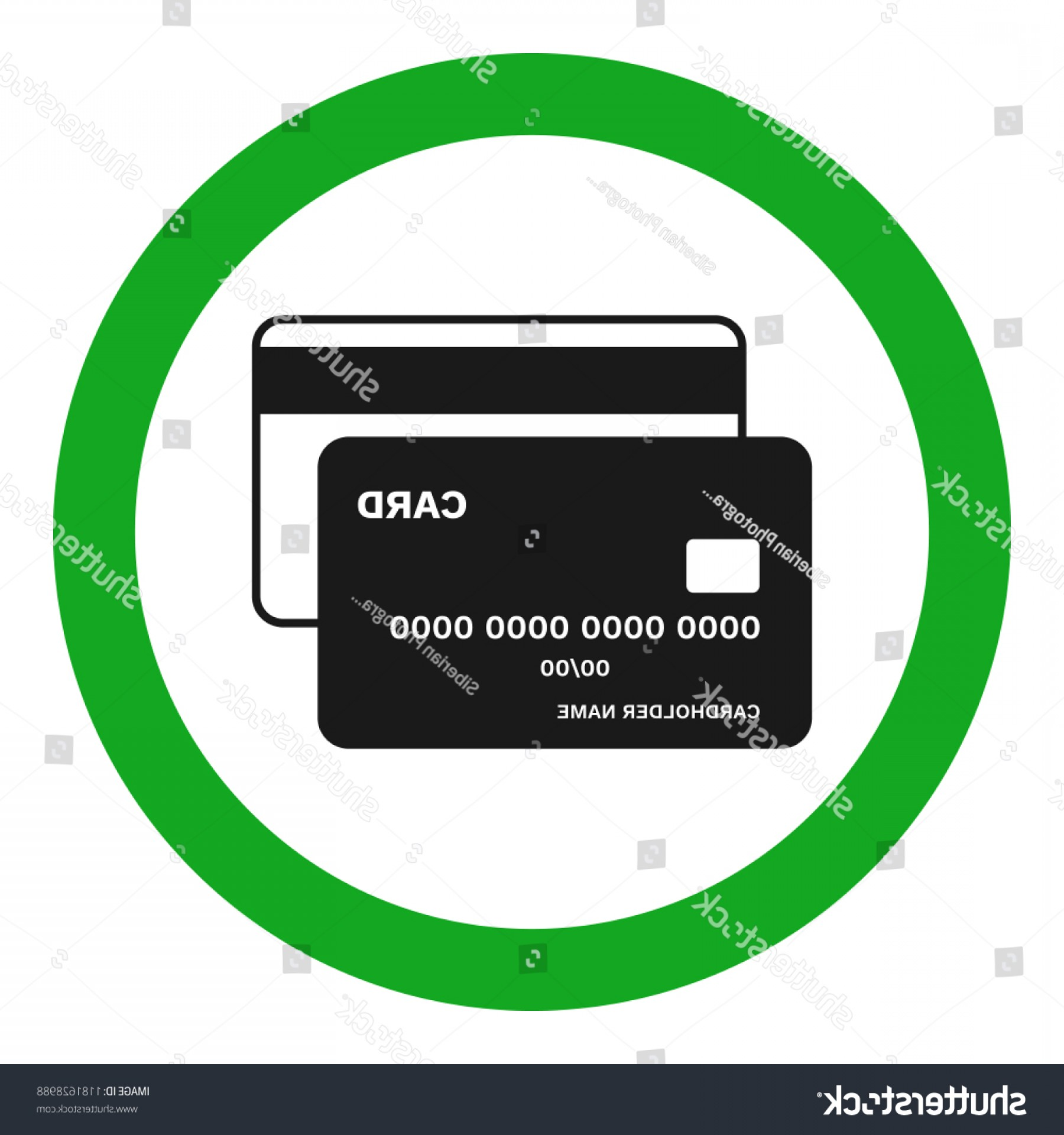 Vector Cards Accepted: Credit Cards Accepted Sign Vector Icon