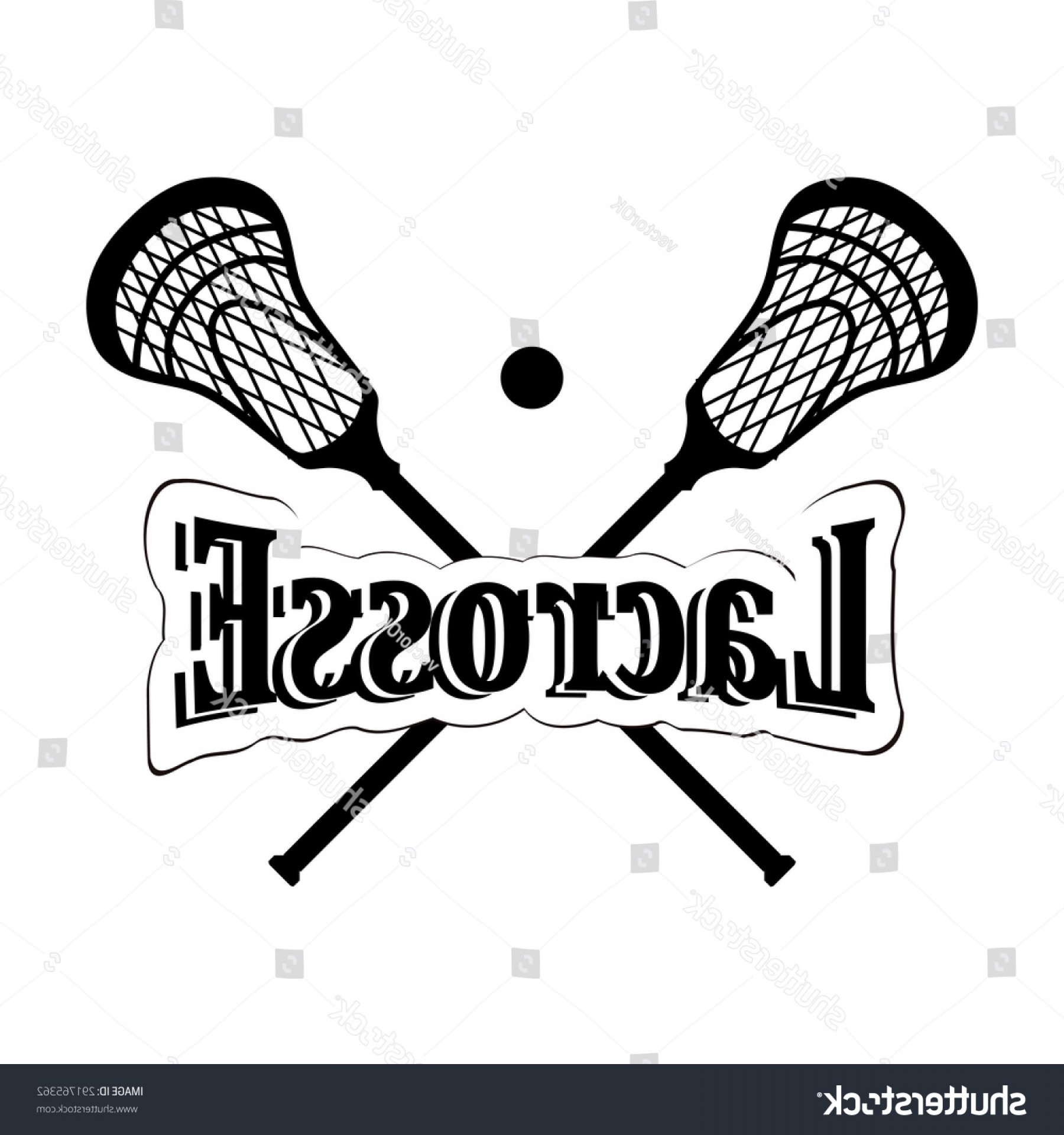 Lacrosse Stick Vector: Crossed Lacrosse Stick Vector Illustration