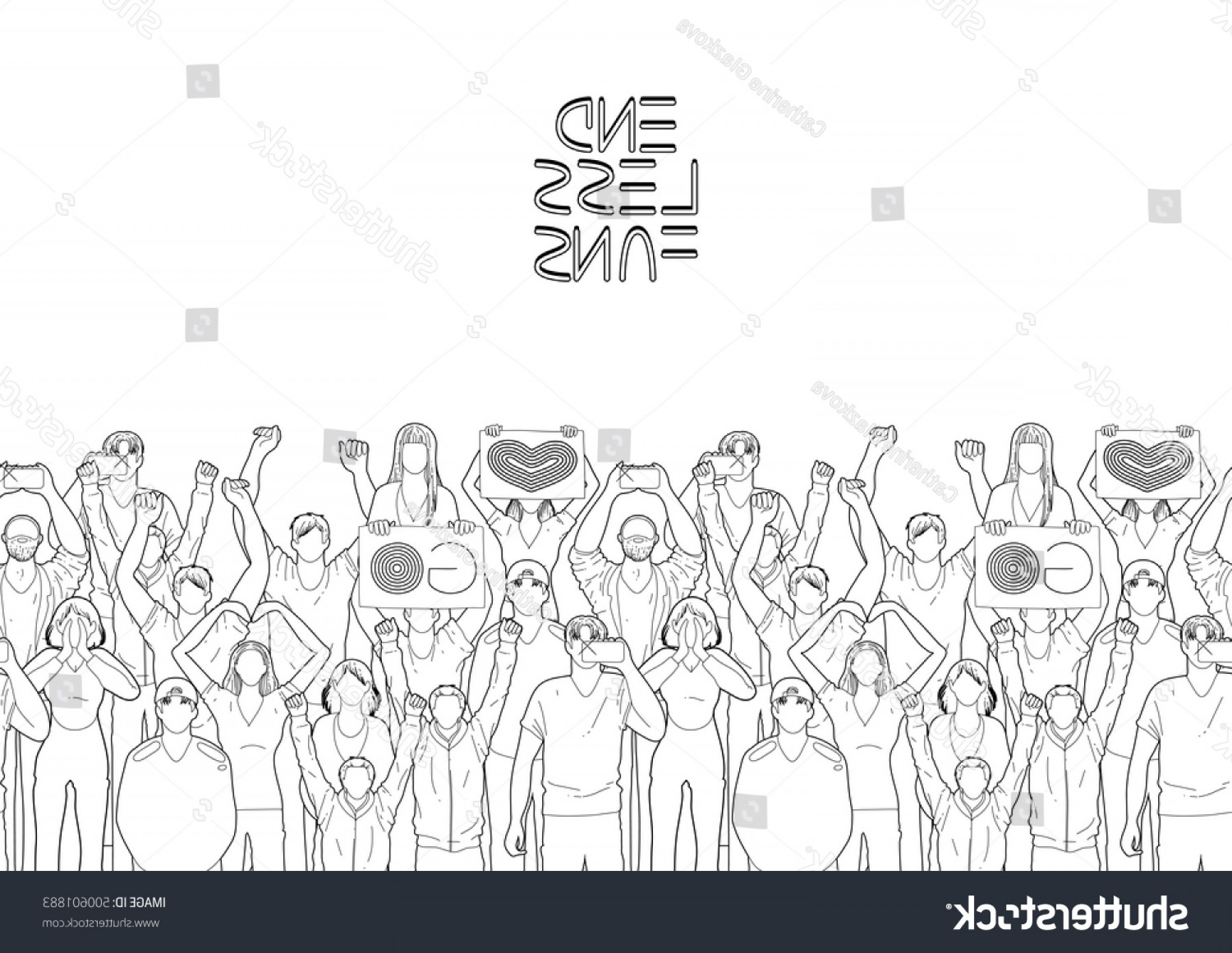 Vector Sports Crowd Cheering: Crowd Cheering Fans Cyber Sport Concept